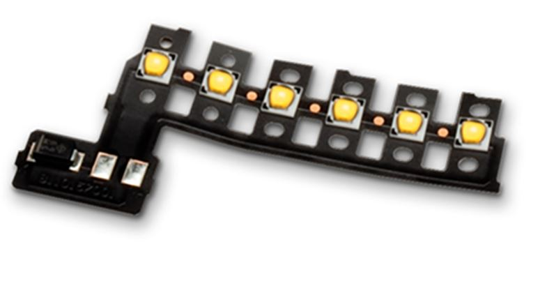 Current controlled LED on Kapton flexible circuit assembly